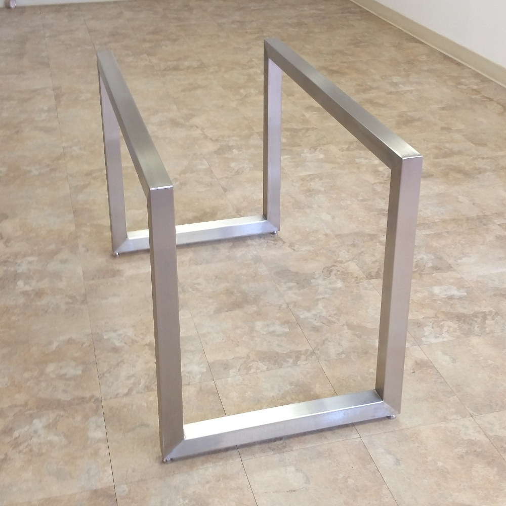 stainless steel table base. poseidon table bases – custom metal home