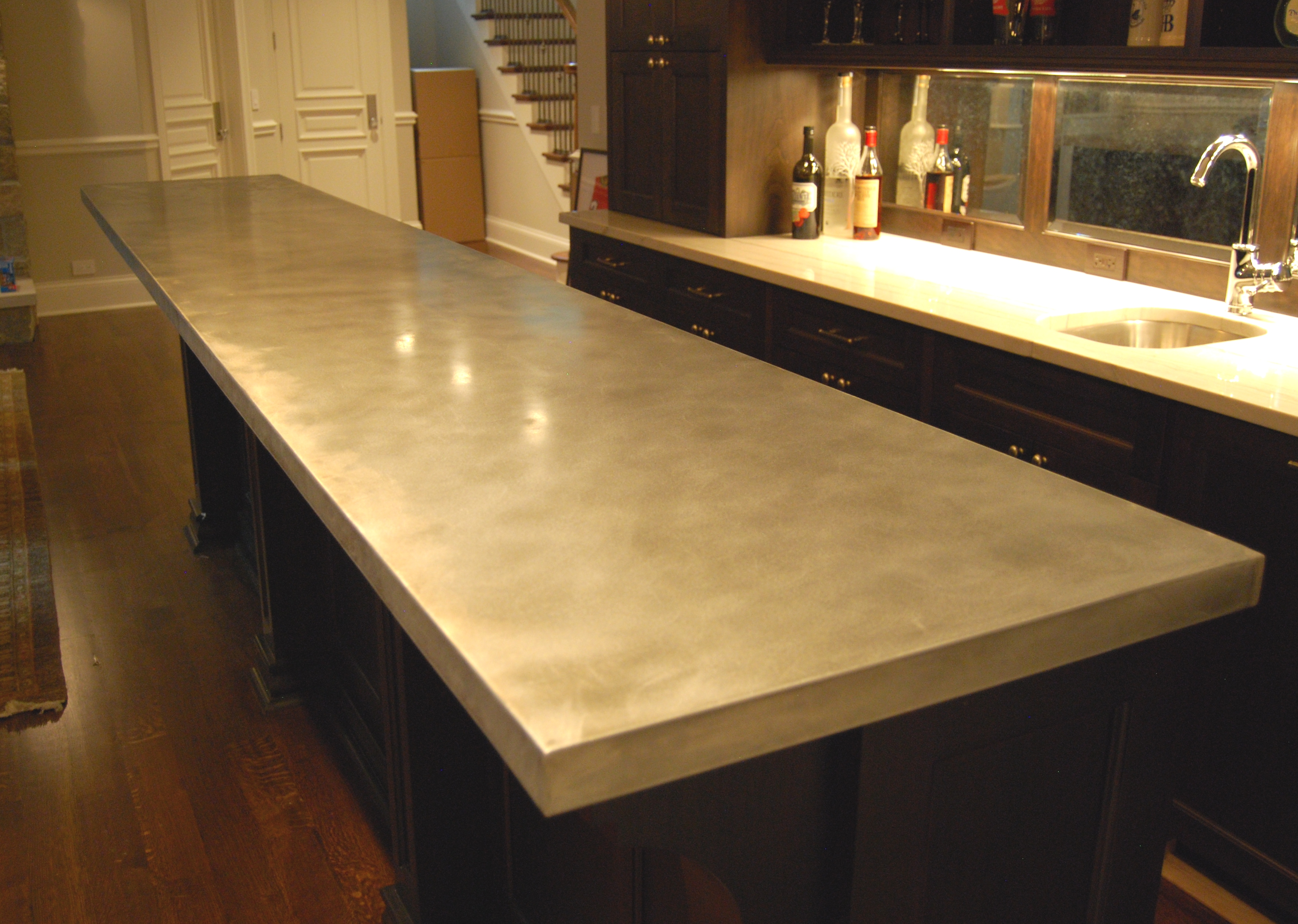 Cost of zinc countertops home design ideas and pictures for Zinc countertop cost
