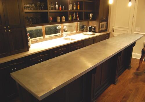 Stainless steel countertops custom metal home for Zinc countertop cost