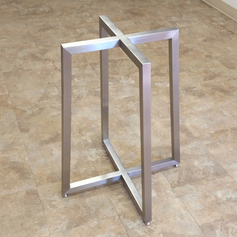 stainless steel table base. apollo table bases – custom metal home
