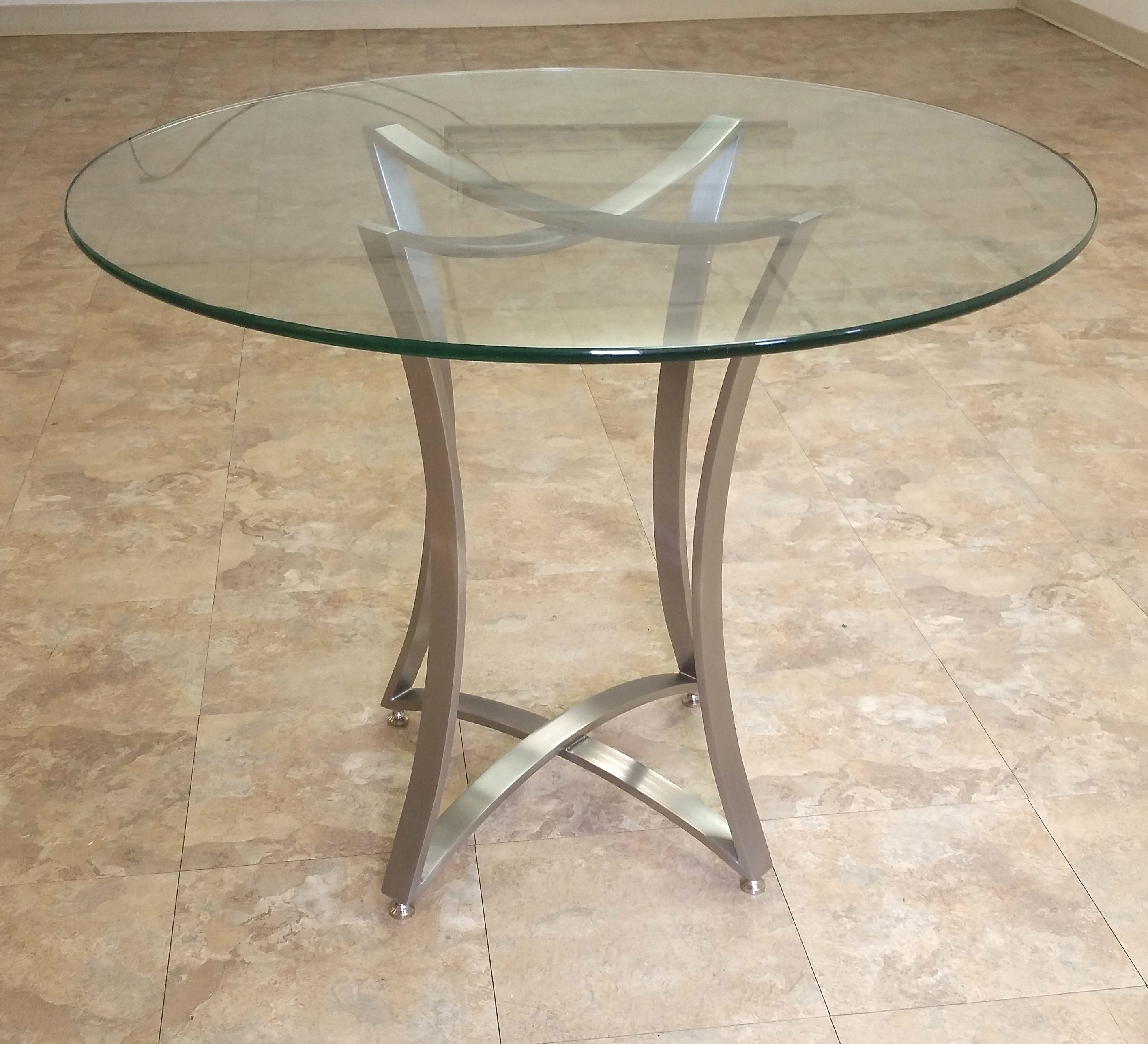 Genial Modern Stainless Steel Table Base