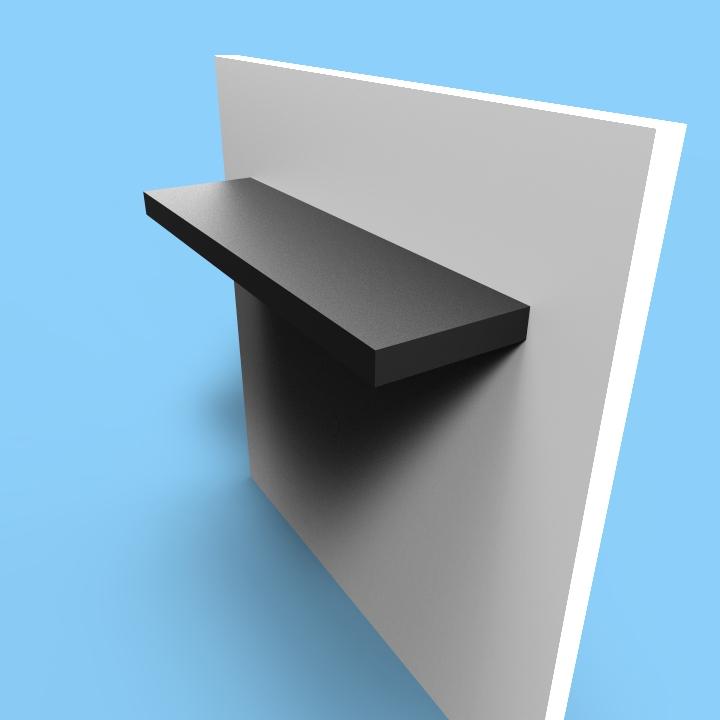floating shelves seamless ss custom metal home. Black Bedroom Furniture Sets. Home Design Ideas