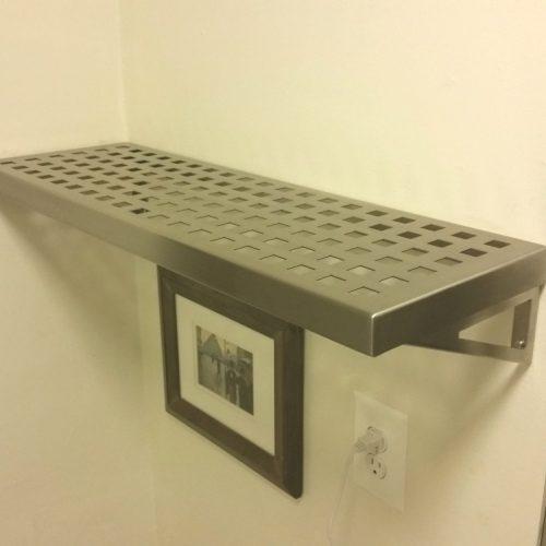 stainless steel shelf. Black Bedroom Furniture Sets. Home Design Ideas