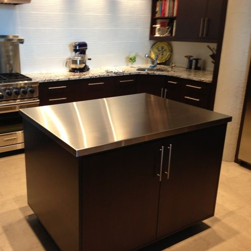 stainless steel island top
