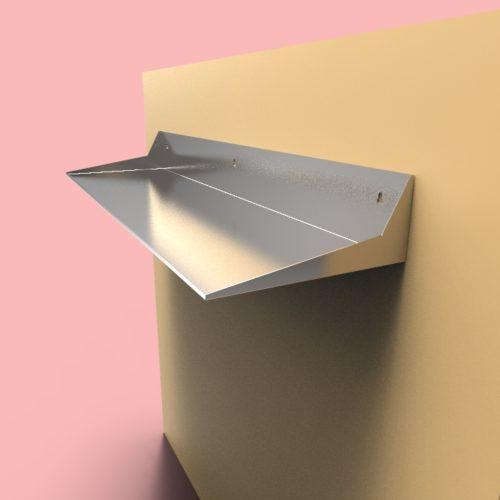 floating shelves seamless custom metal home. Black Bedroom Furniture Sets. Home Design Ideas