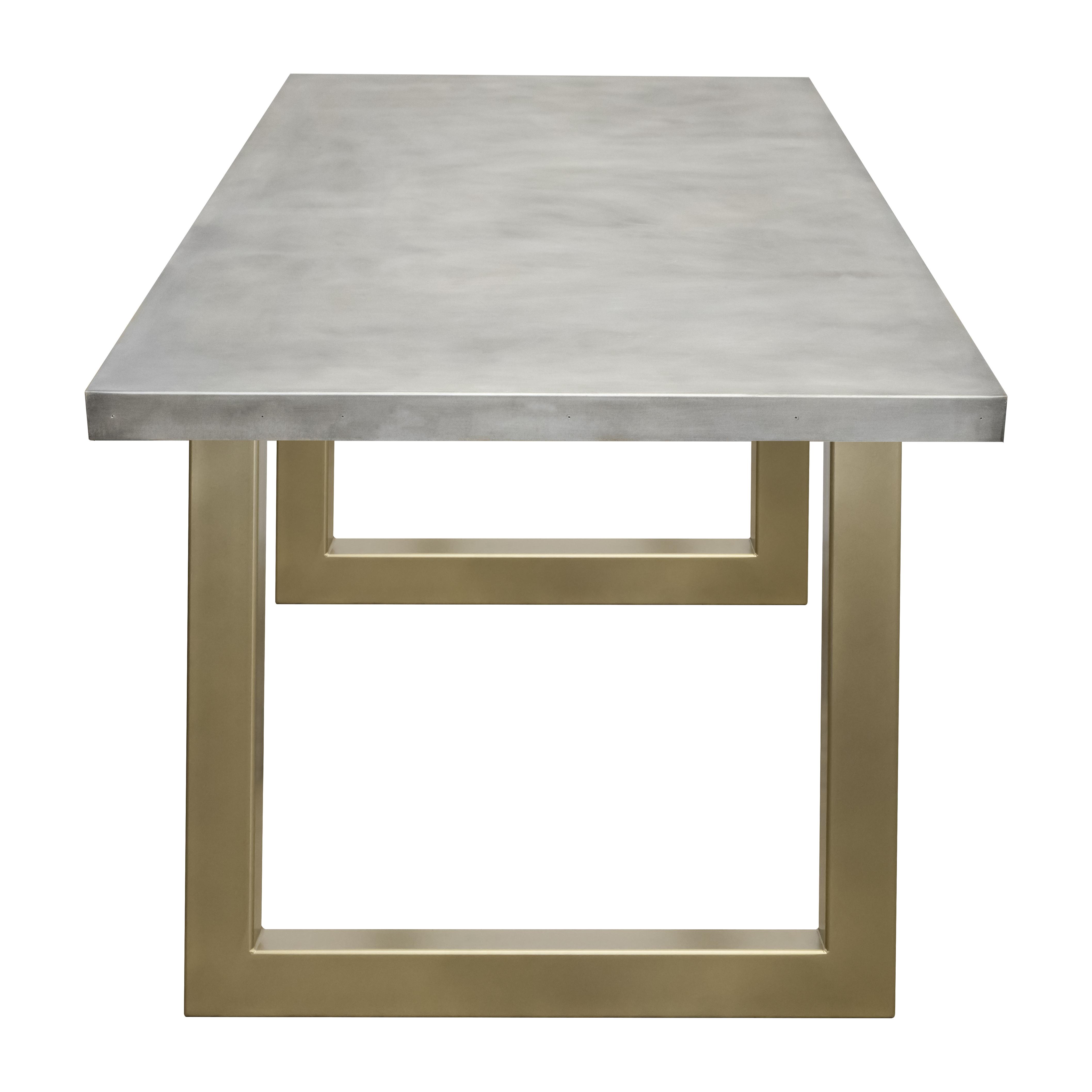 Zinc Table with Gold Sabrina Legs – Custom Metal Home