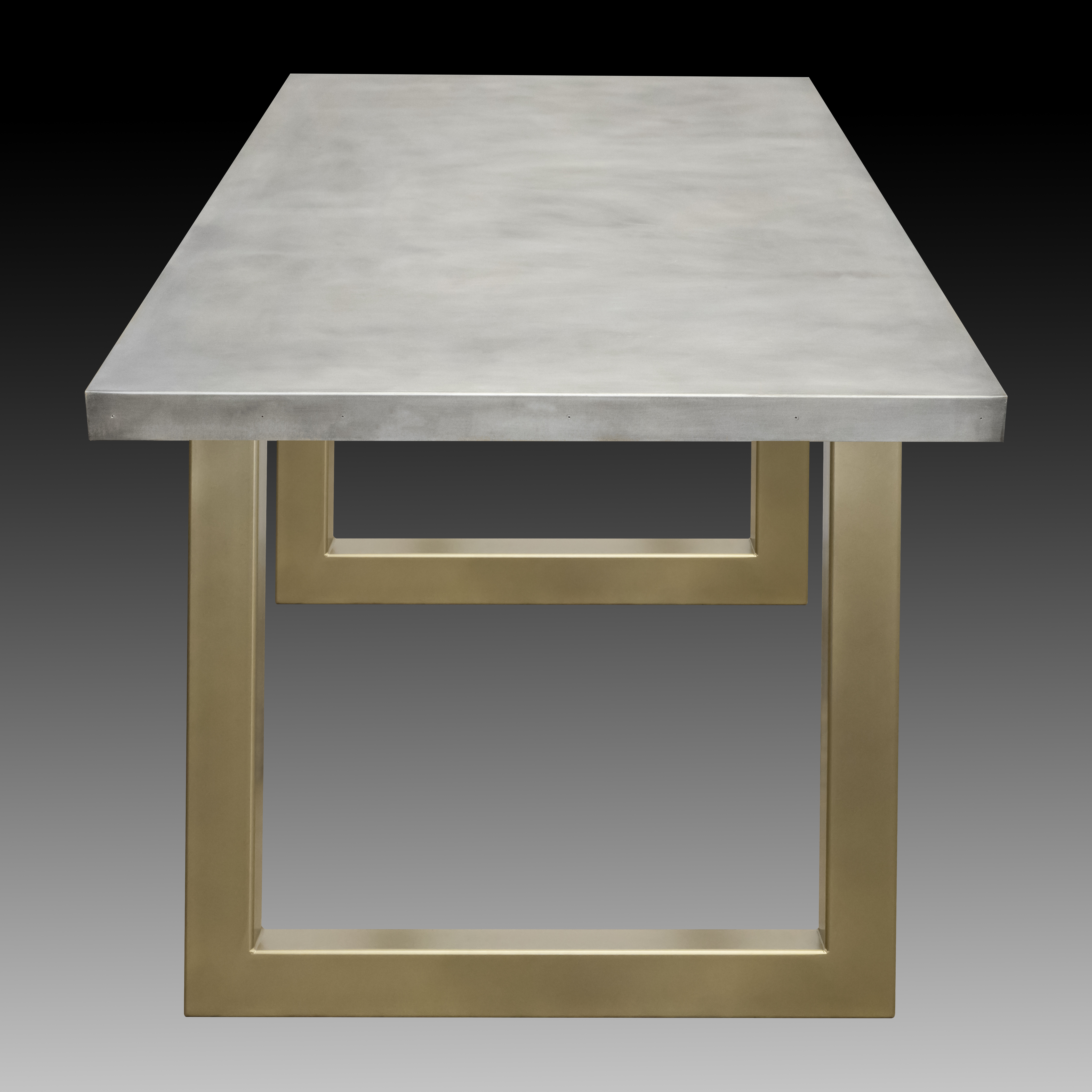zinc table with gold sabrina legs custom metal home