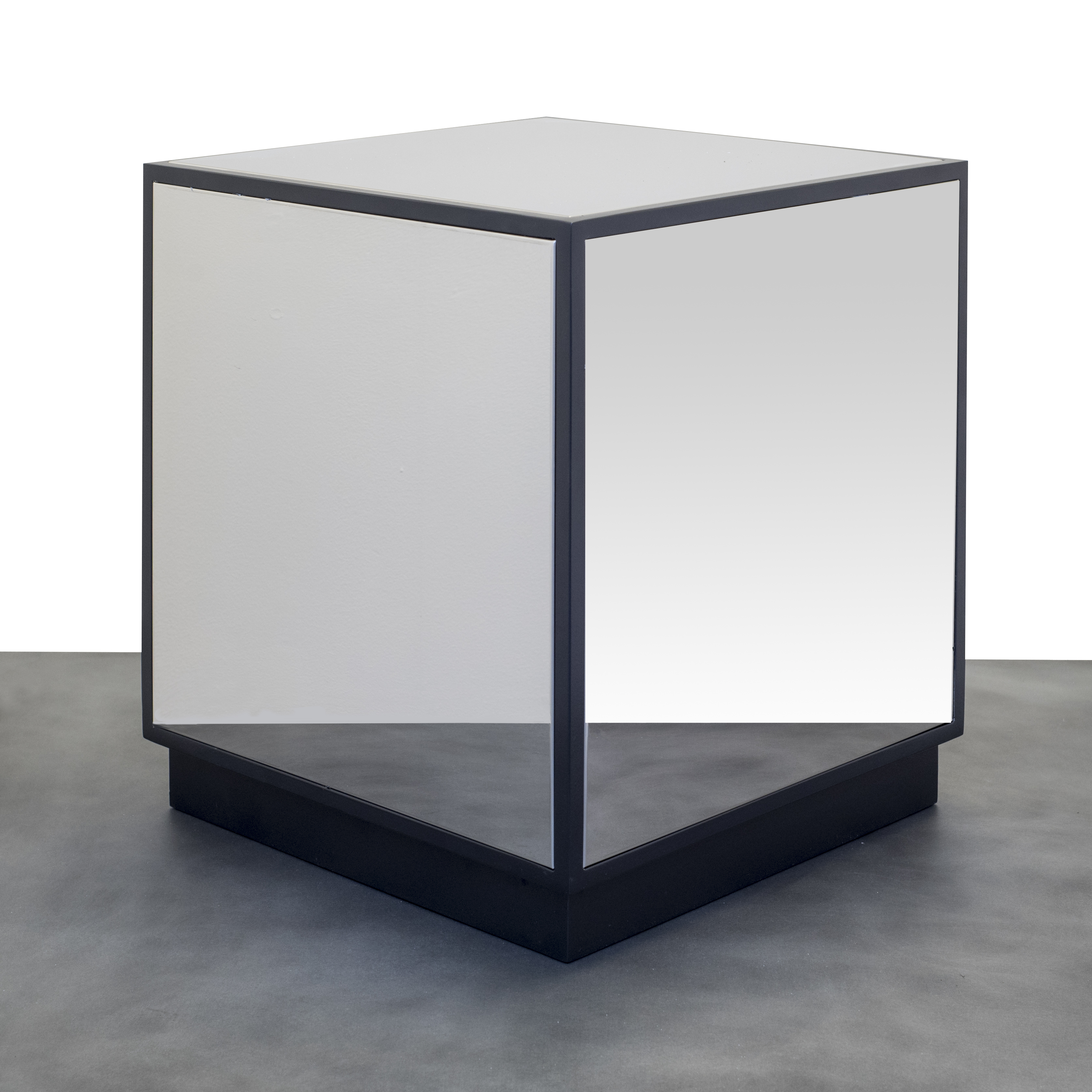 Mirrored SS Cube Coffee End Table – Custom Metal Home