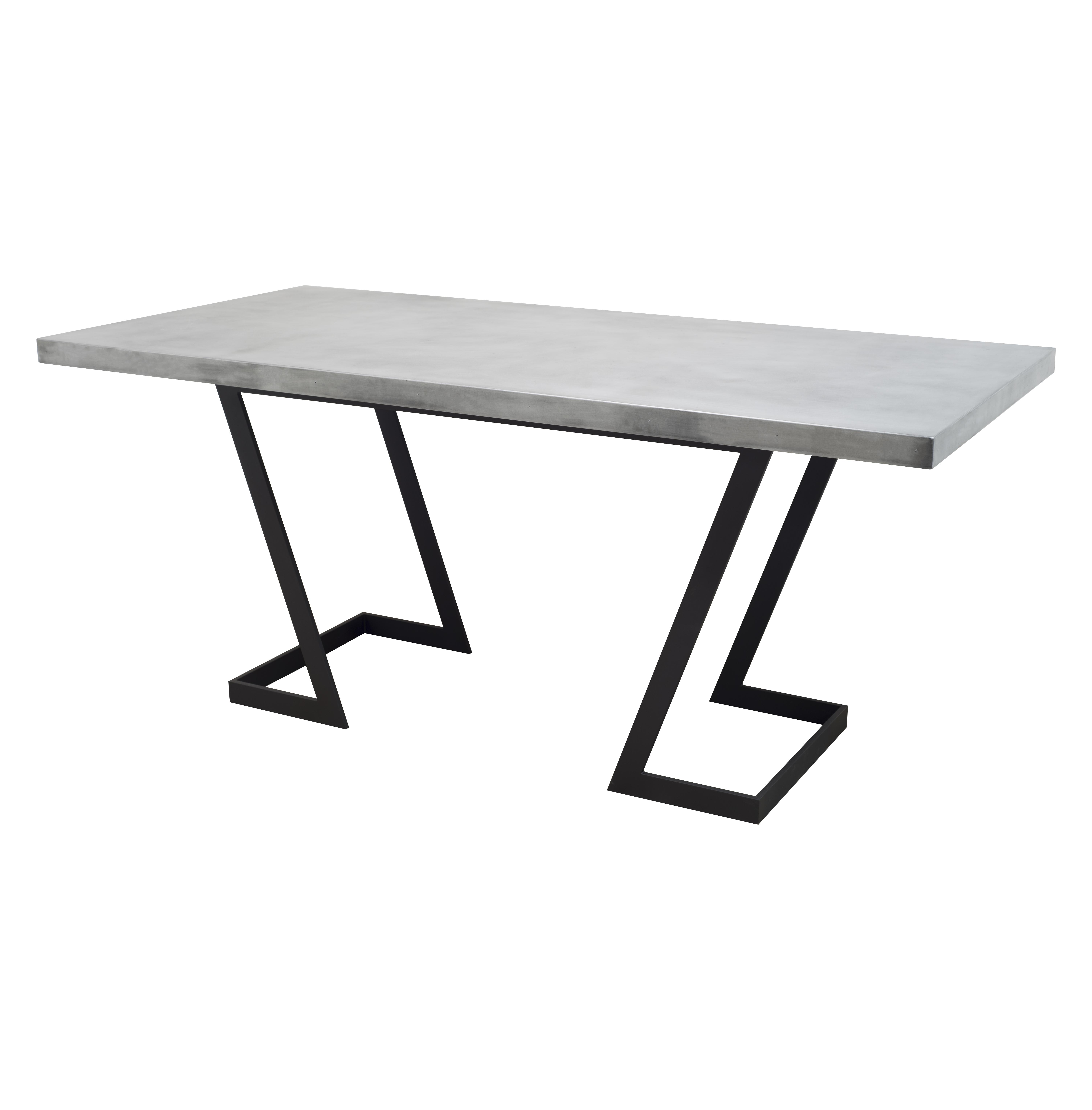 Omega Table Base w Zinc or SS Top – Custom Metal Home