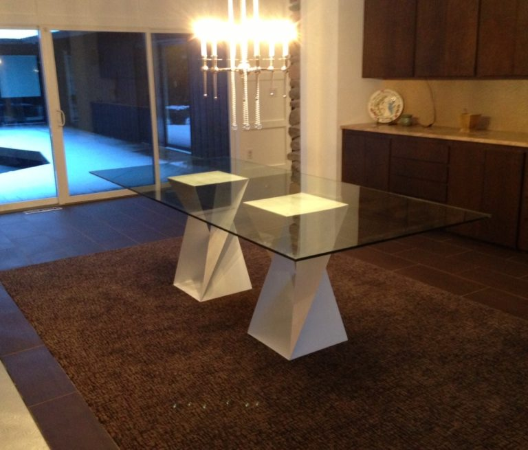 marcell style white twisted base table