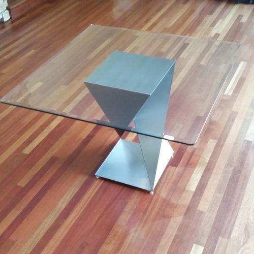 steel twist base square table portrait