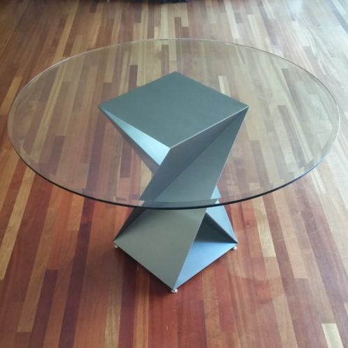 custom twist base round table