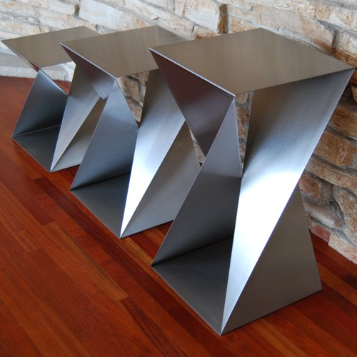 stainless steel twist table bases
