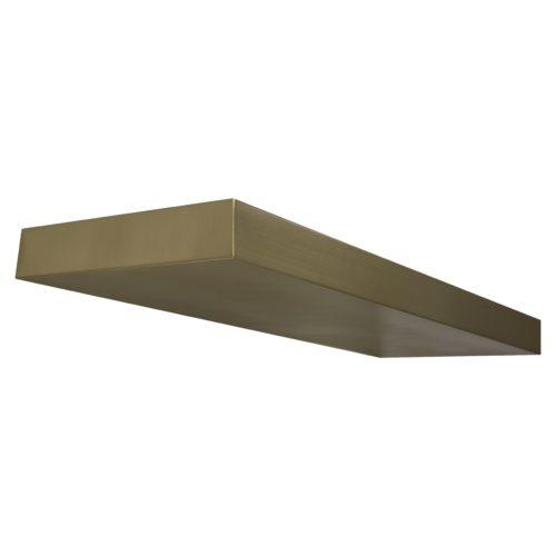 custom floating brass brushed shelf
