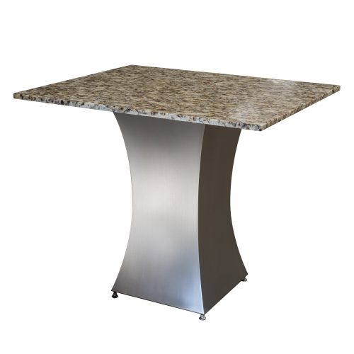 hera stainless steel base with marble table
