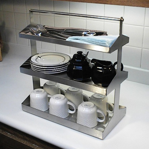 stainless steel caddy rack