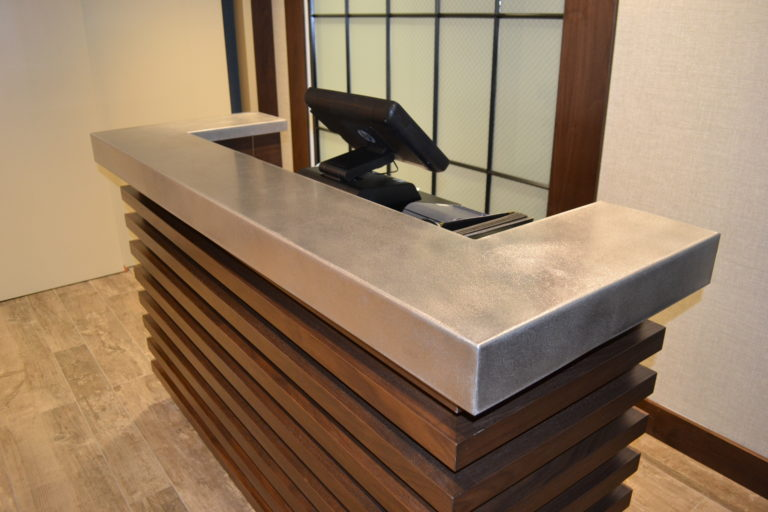 stainless steel reception counter