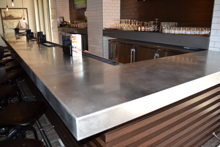 stainless steel bar countertops