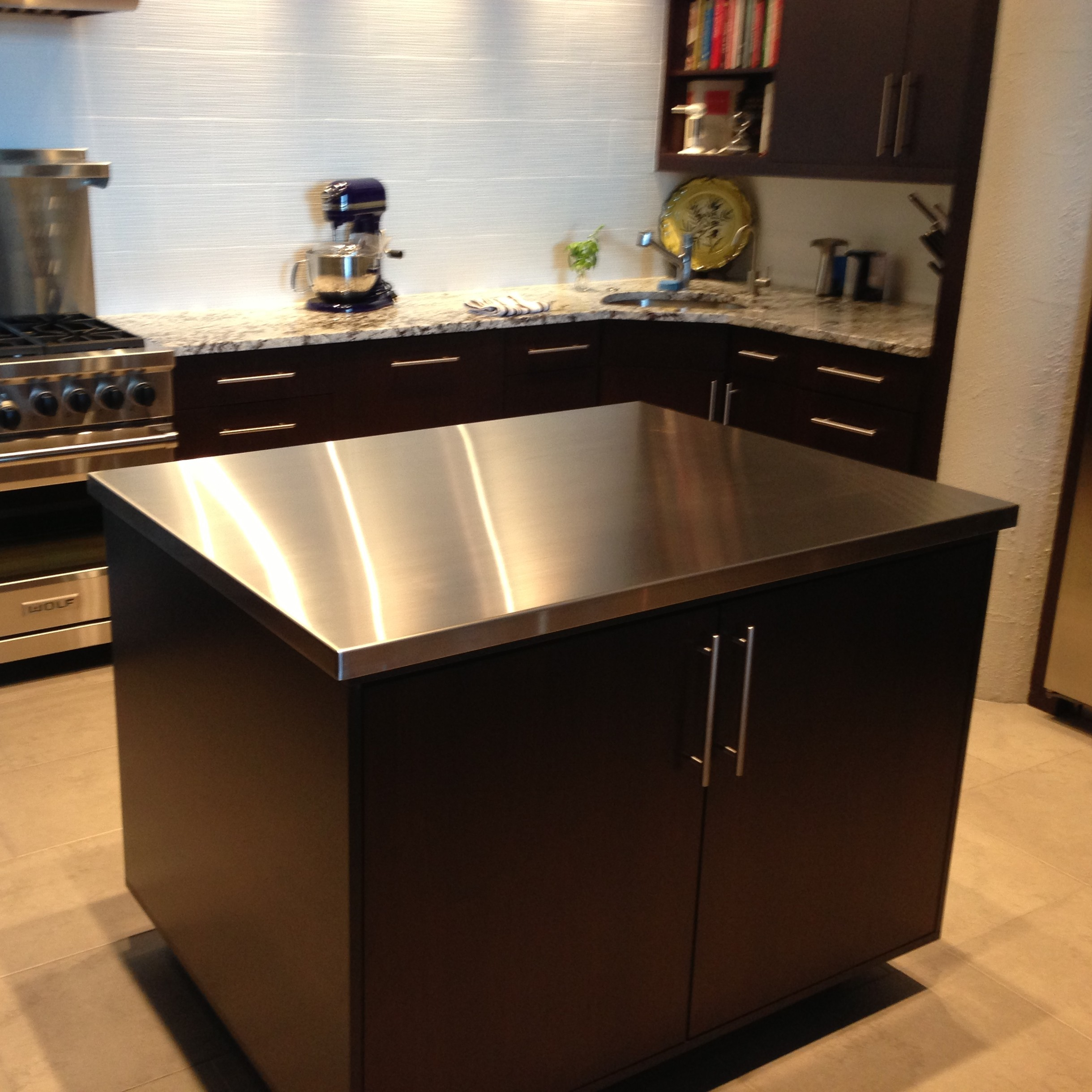 kitchen island stainless steel top stainless steel countertops custom metal home 24786