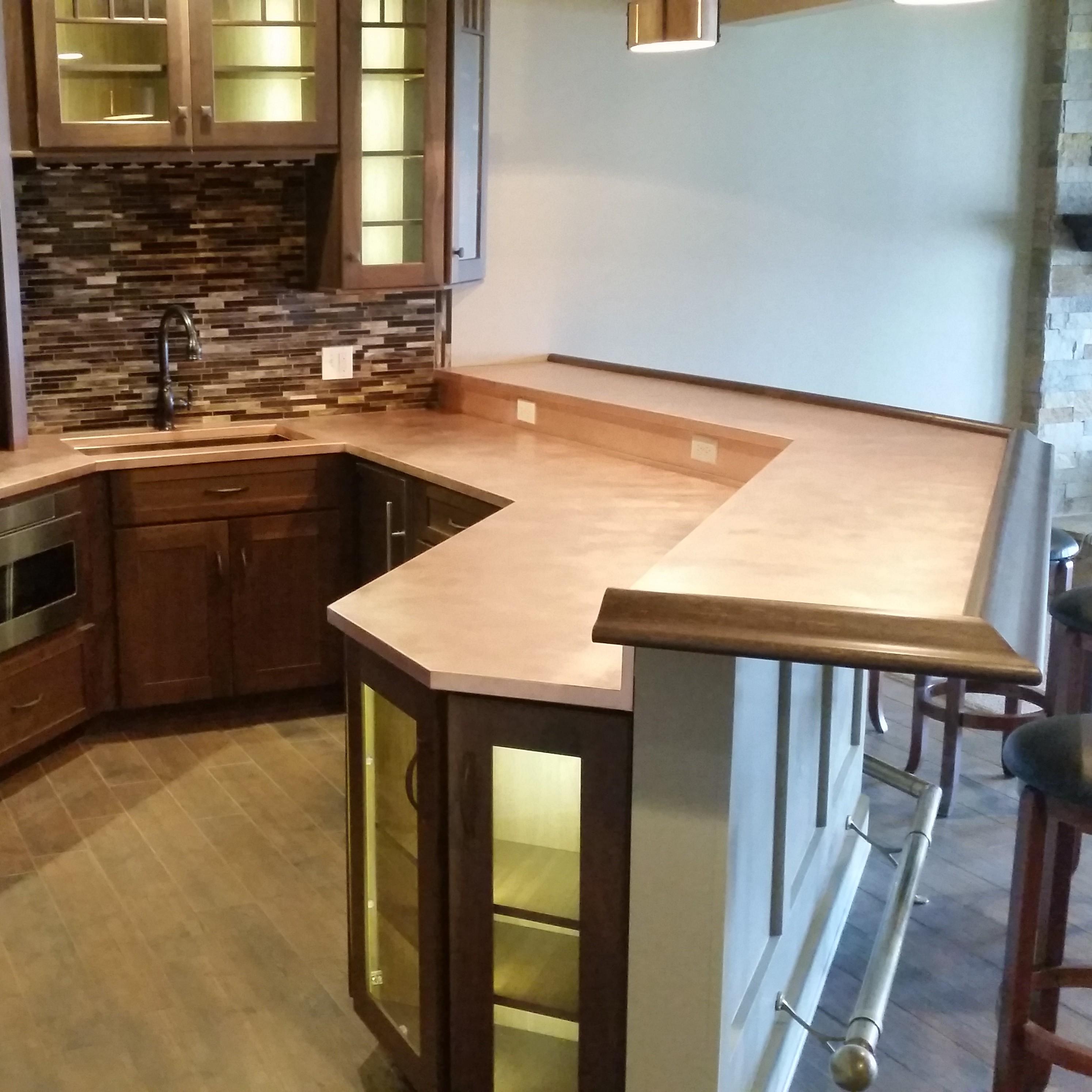 Copper Kitchen Countertops & Bar Tops   Custom Metal Home