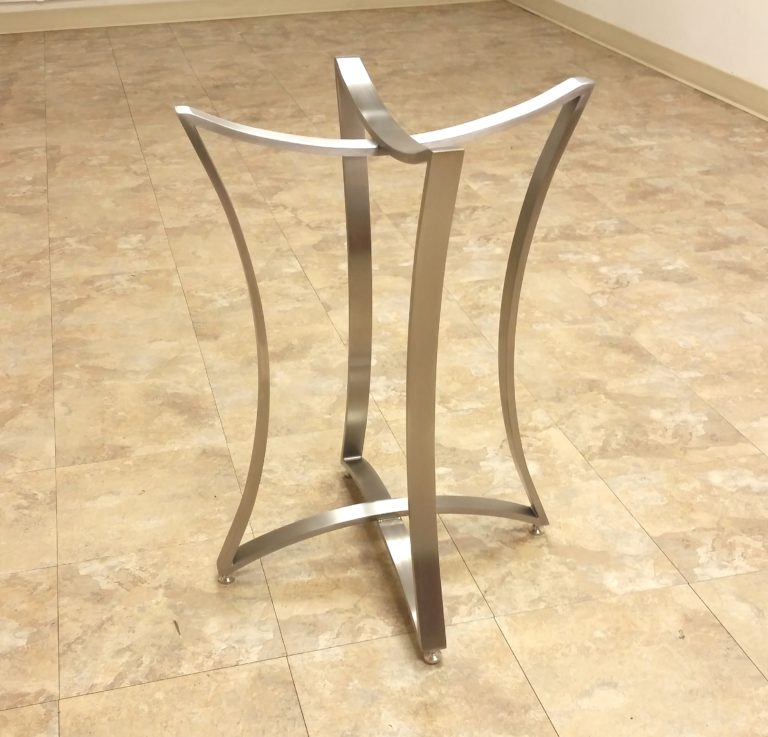 handcrafted metal table base