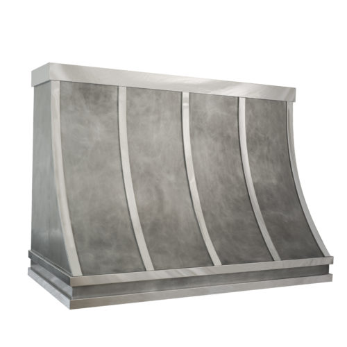 zinc and mirror rangehood