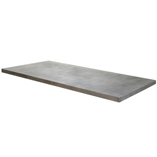 darkened zinc table top
