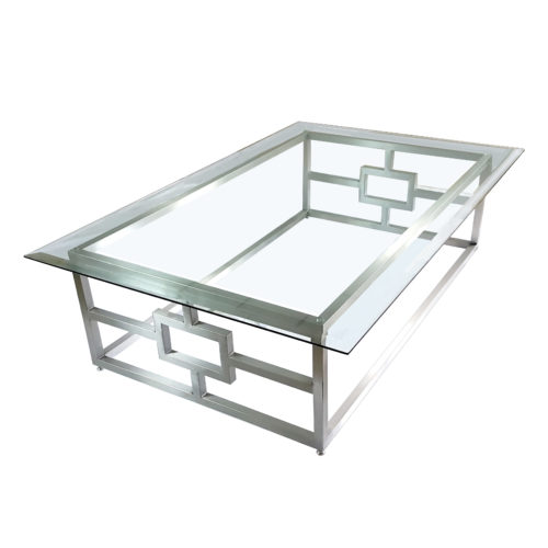 vesta style glass coffee table