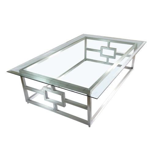 vesta style glass coffee table