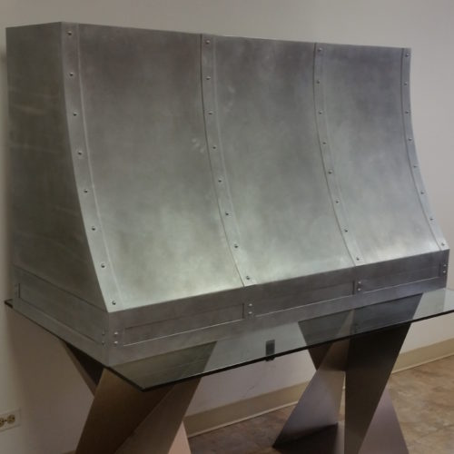 custom zinc rangehood profile