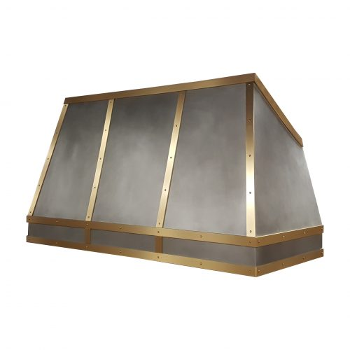 custom zinc and brass rangehood