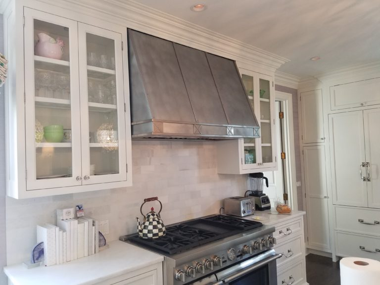 zinc and stainless steel kitchen rangehood