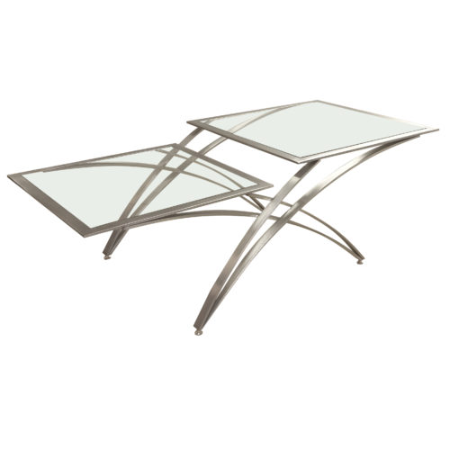 milana style steel coffee table