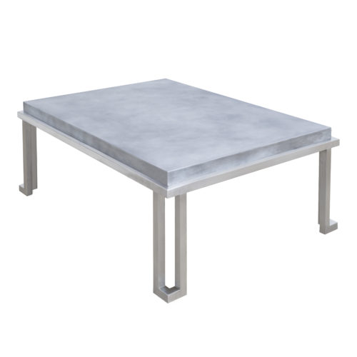 stainless steel and marble coffee table