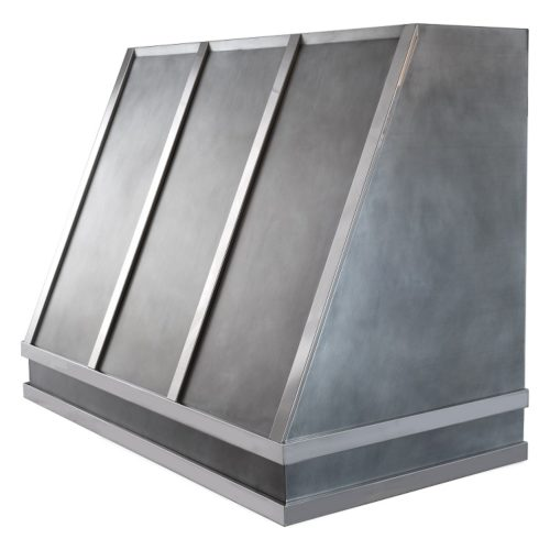 custom zinc and mirror rangehood
