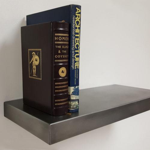 seamless zinc floating shelf