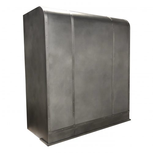 custom zinc on zinc range hood